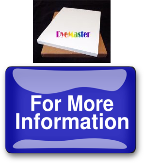 """DyeMaster Sublimation Paper for Ricoh//Epson Printer 11 x 17/"""" Sheets"""